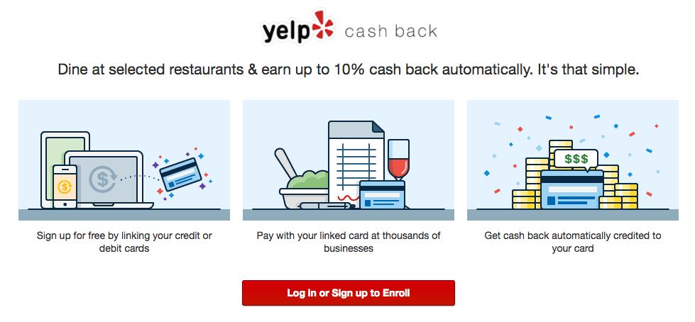 yelp cash back