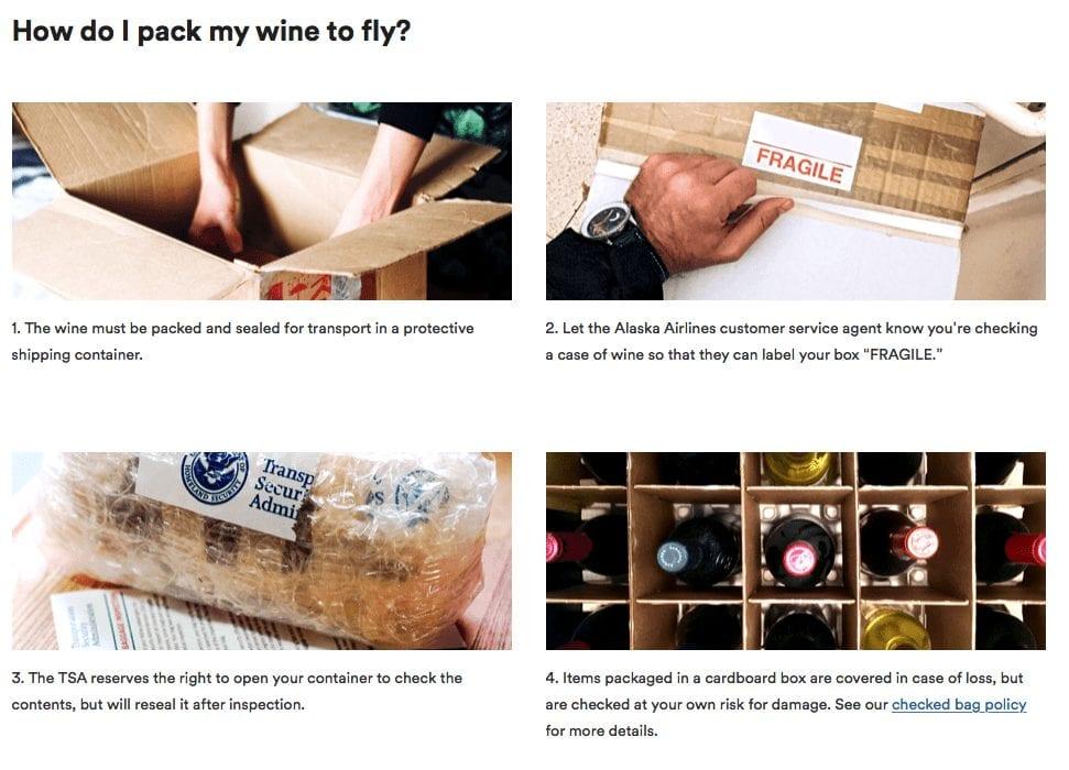 alaska wine flies free
