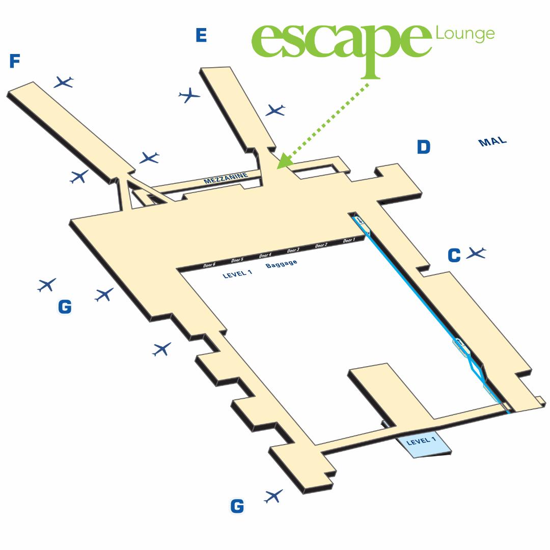 escape lounge msp map