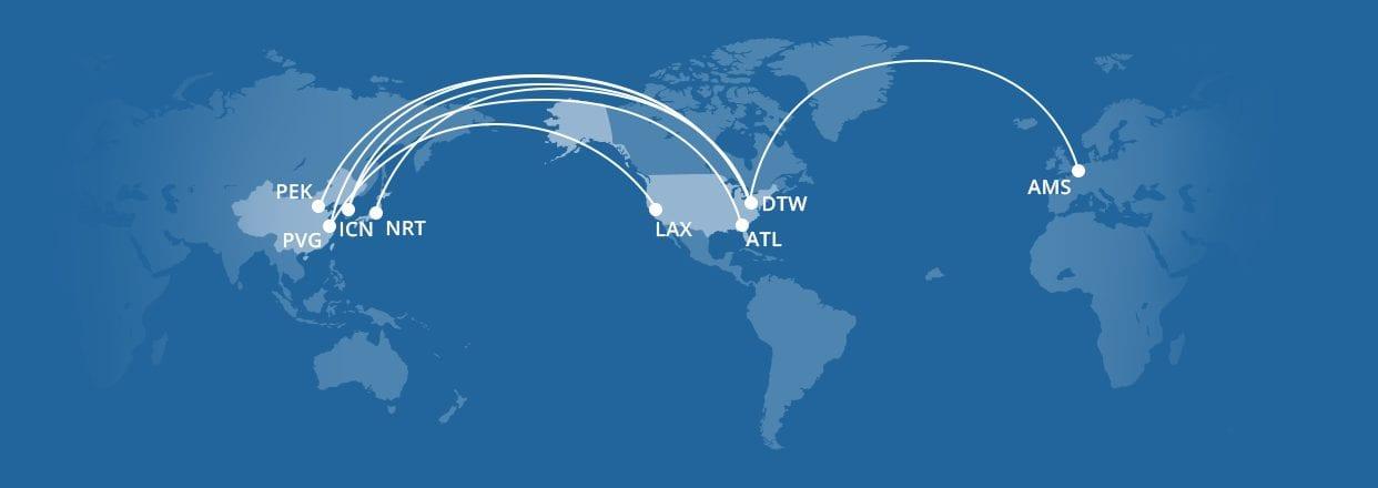 Delta A350 Routes