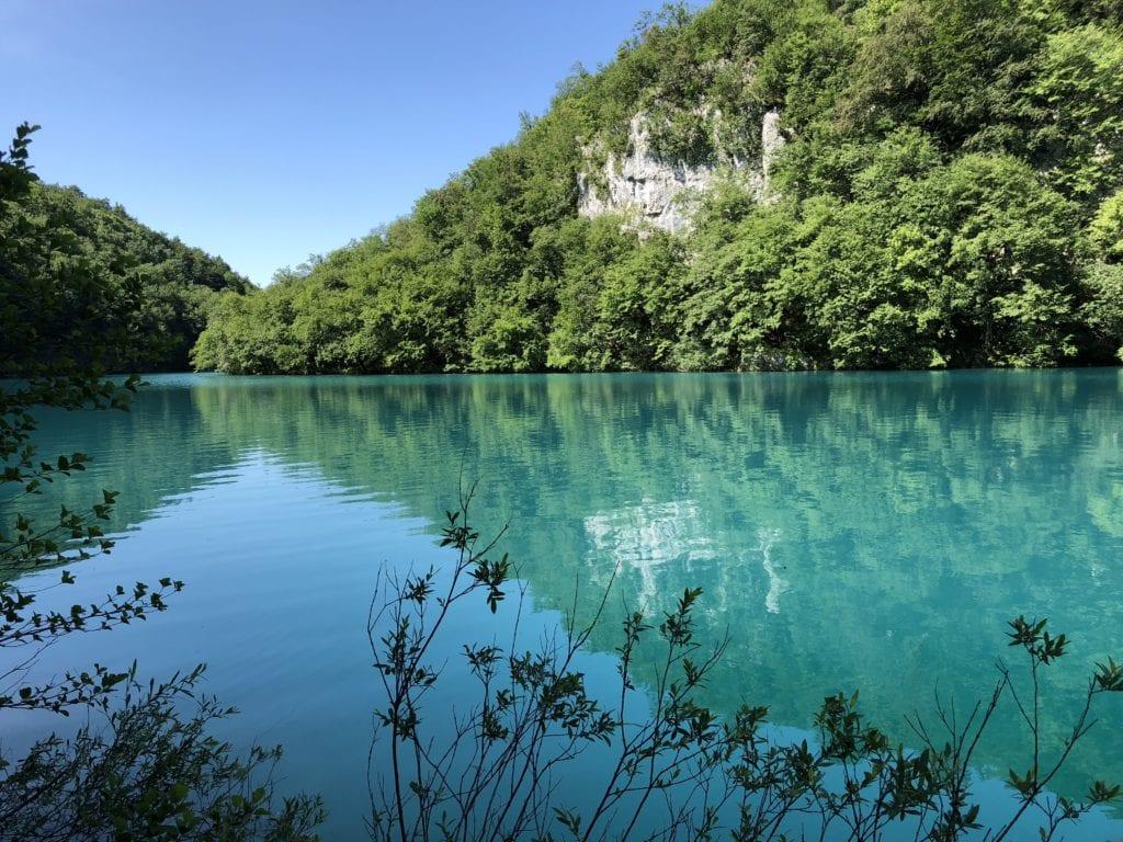 Plitvice Lakes blue water