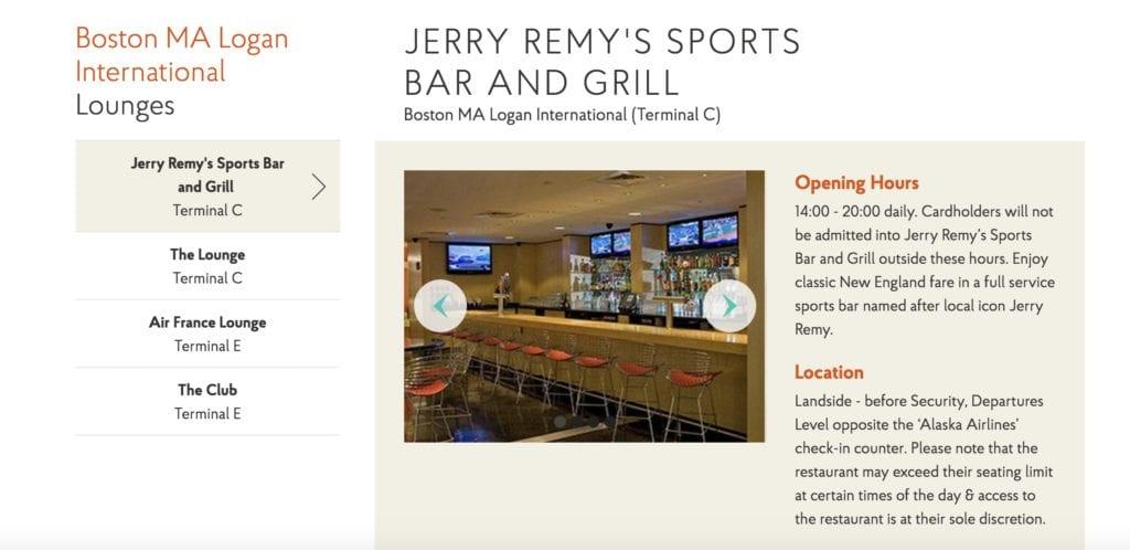 Boston Priority Pass Restaurant