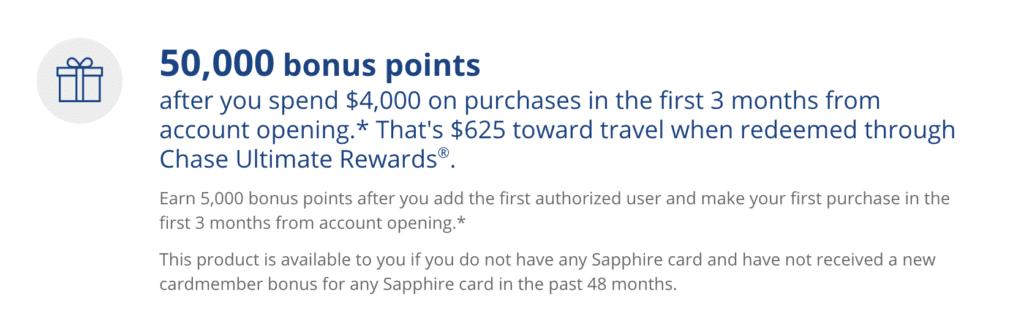 Sapphire Card Bonus Eligibility