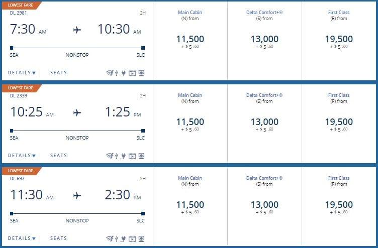 Delta SkyMiles Pricing