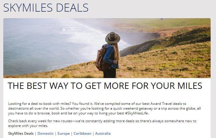 Delta SkyMiles Flash Sales