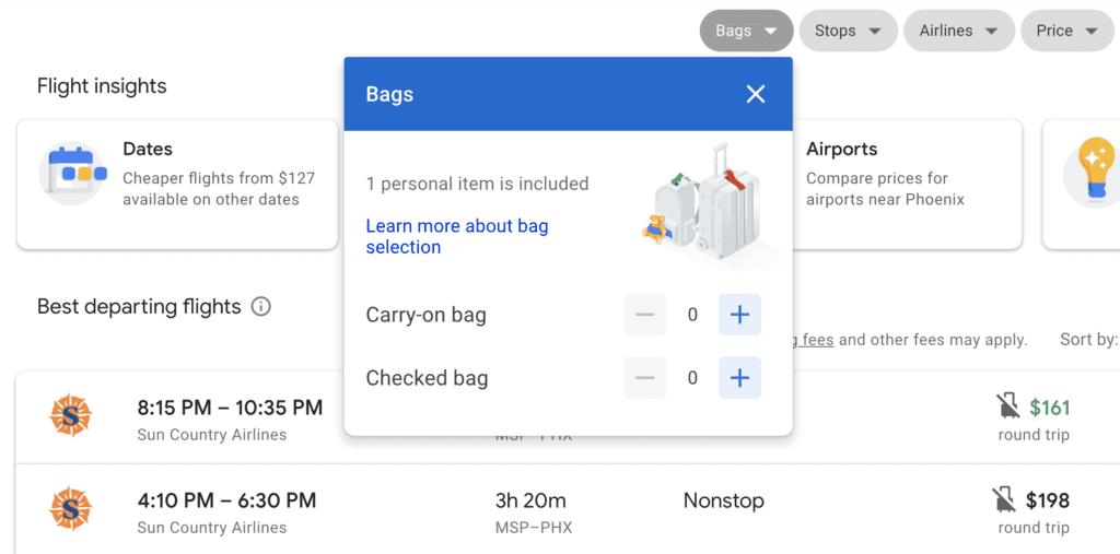 google flights tool