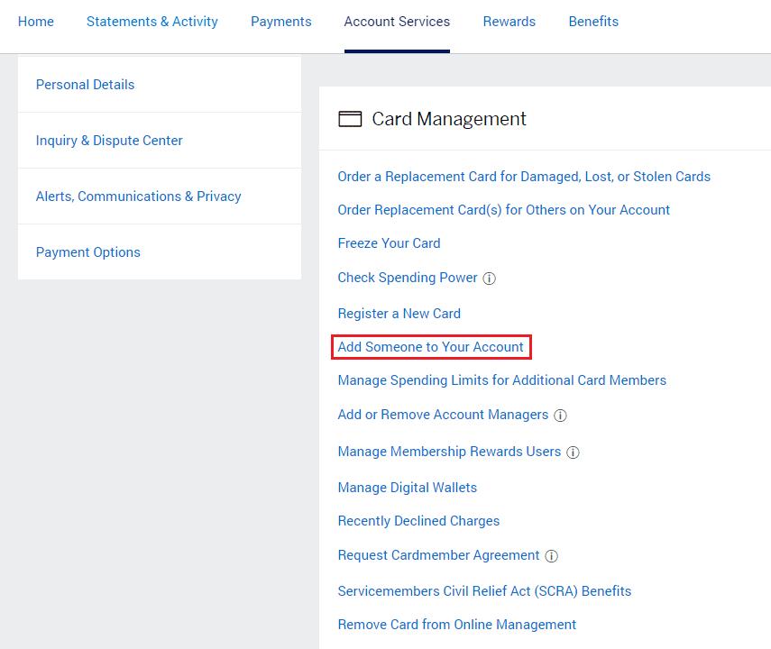Amex Platinum Authorized User