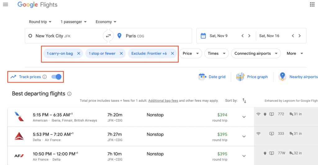 google flights price alerts