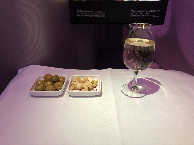Iberia Business Class drinks