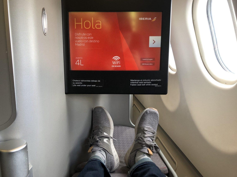 Iberia Business Class footwell