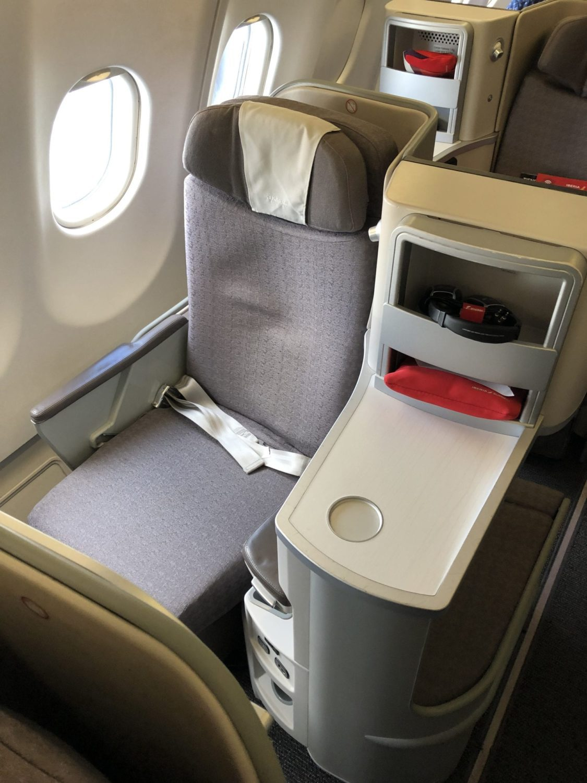Iberia Business Class seat