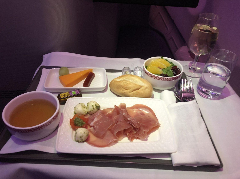 Iberia Business Class food