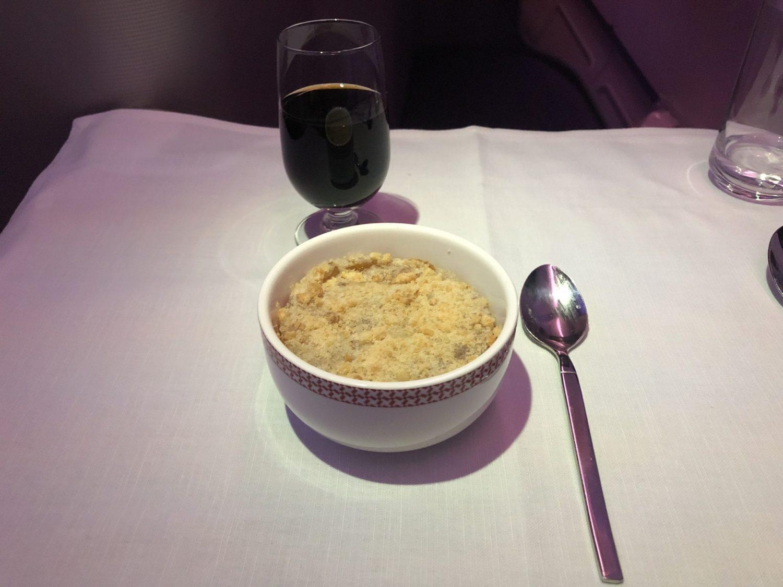 Iberia Business Class dessert