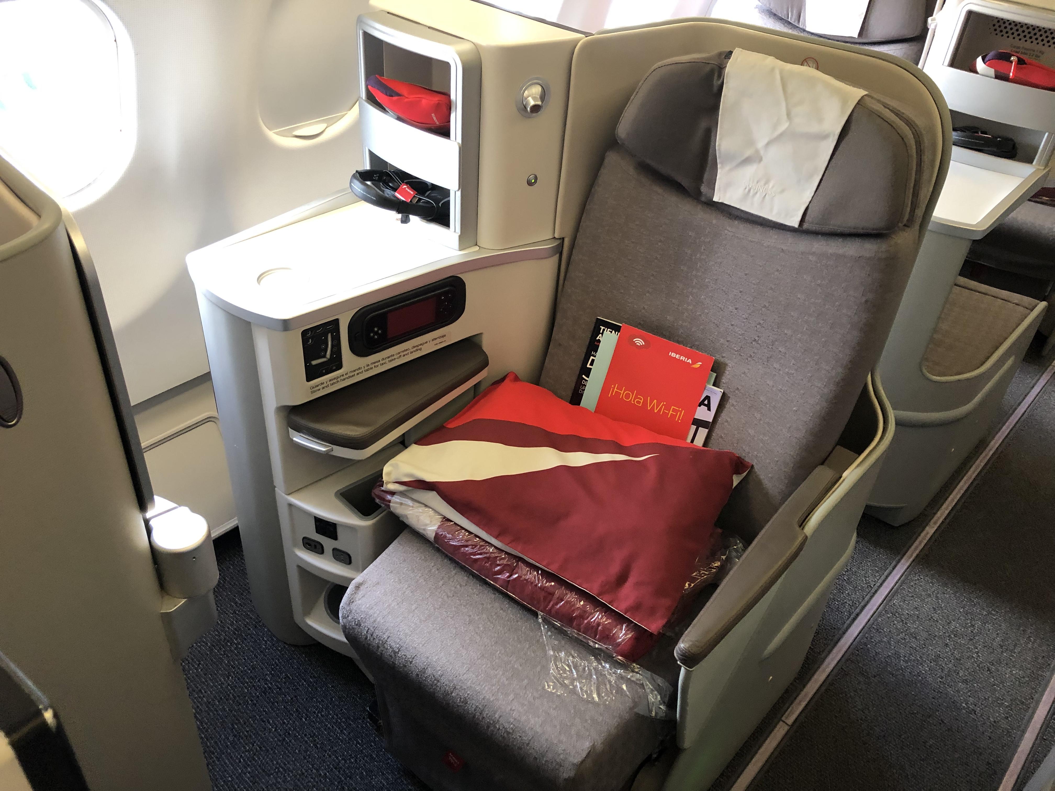 Iberia Business Class seats