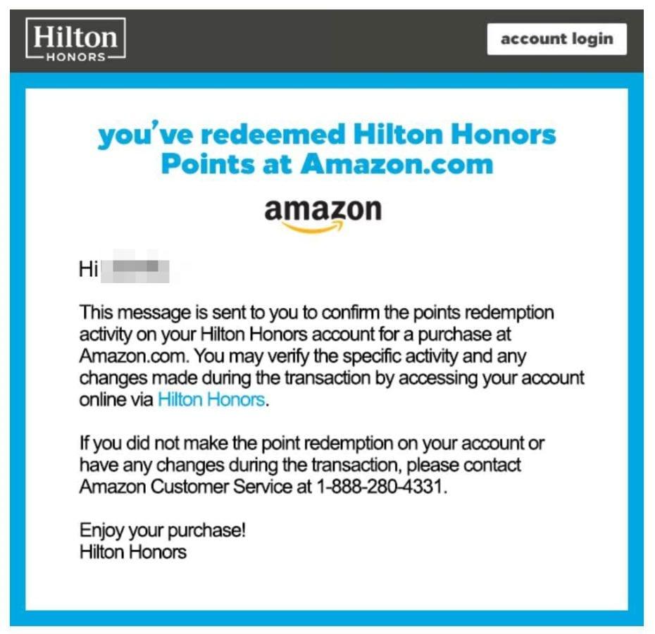 Hilton points stolen