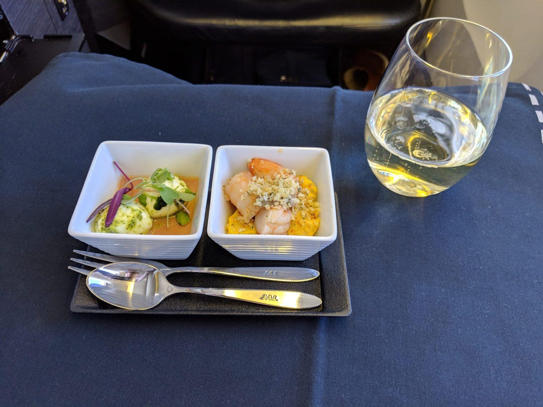 Japan Airlines Business Class amuse bouche