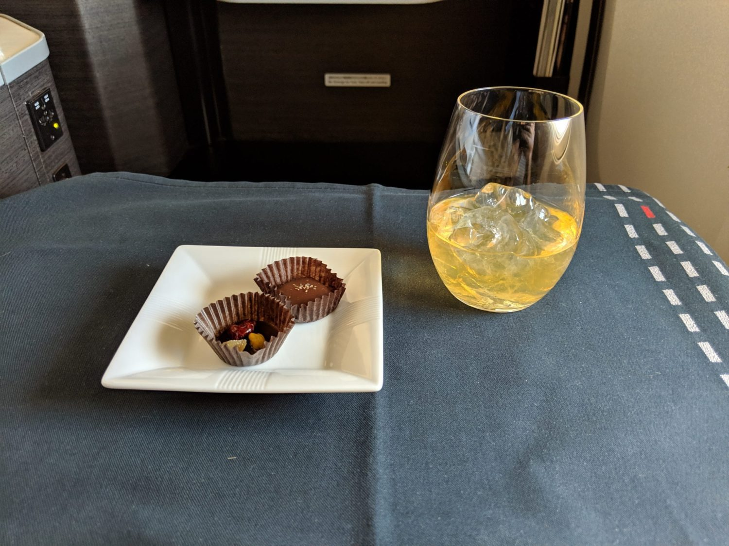 Japan Airlines Business Class whiksy