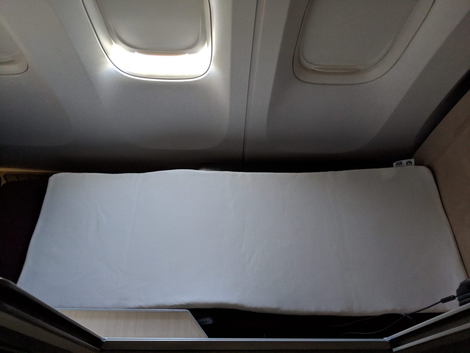 Japan Airlines Business Class seat bed