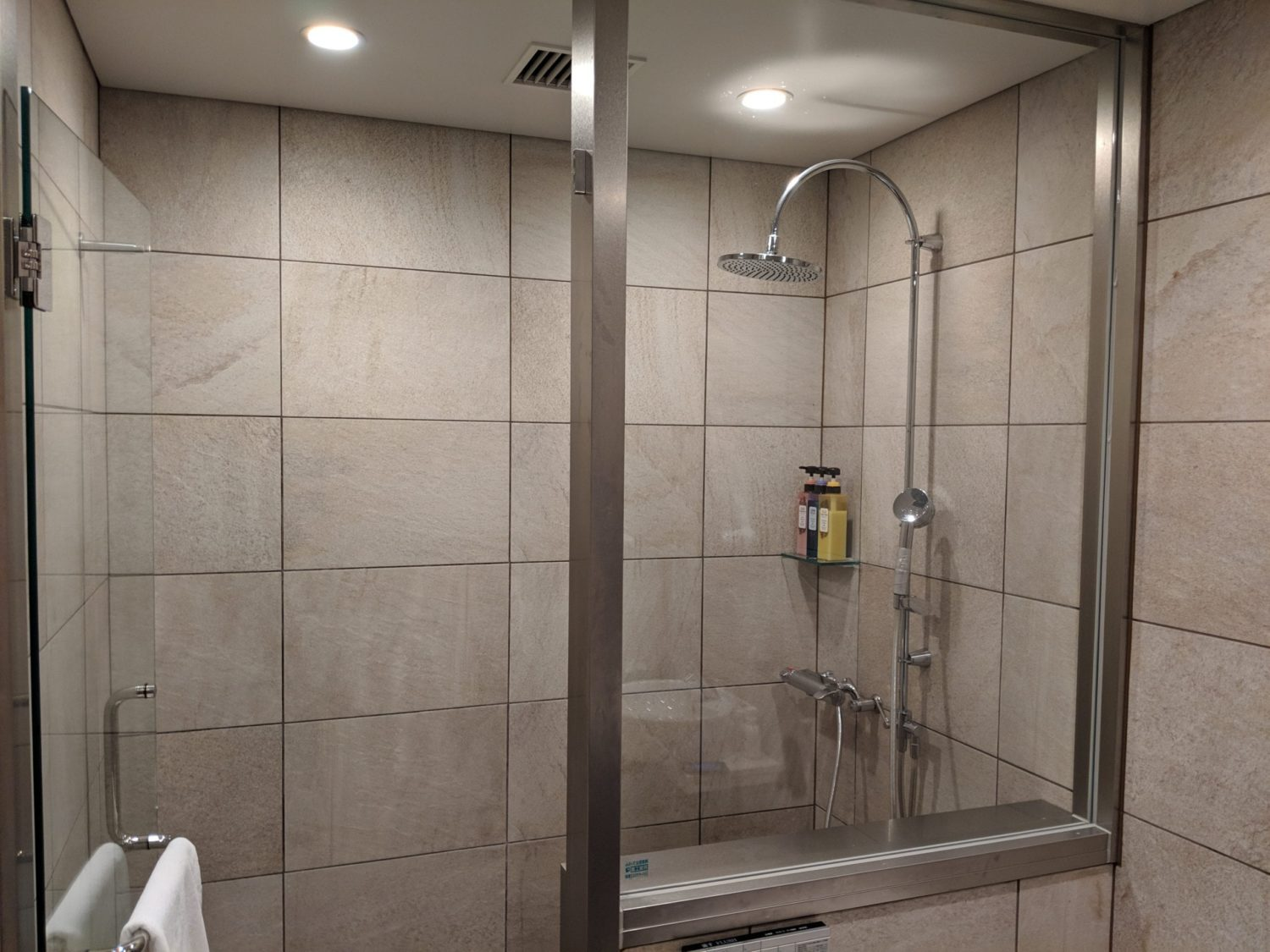 Delta One Lounge showers