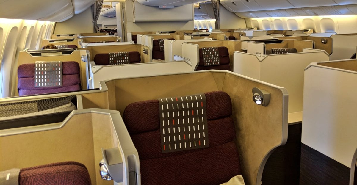 Flight Review Japan Airlines Business Class 777 Chicago To Tokyo Narita