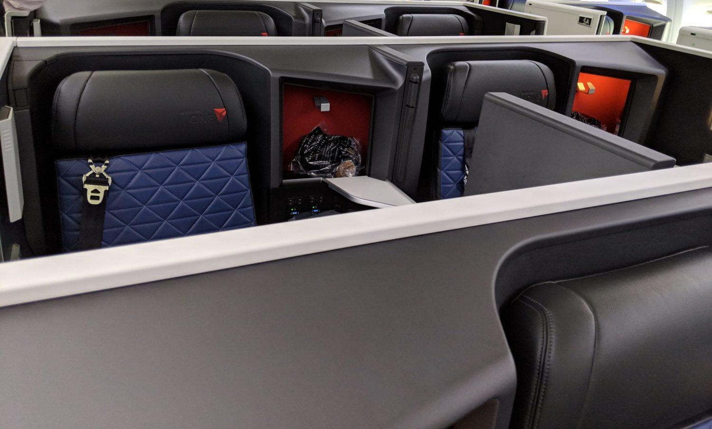 Delta One Suites center seats