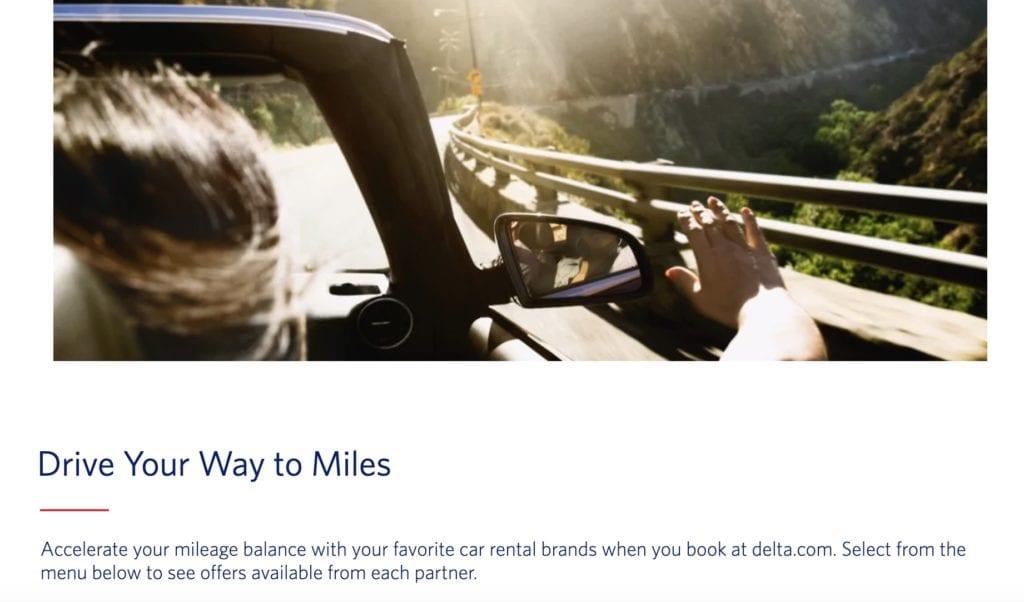 earn delta skymiles car rental