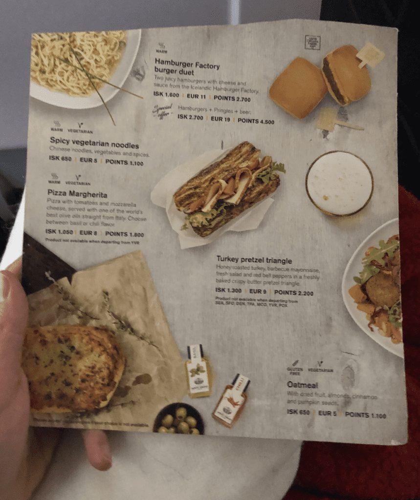 icelandair review food