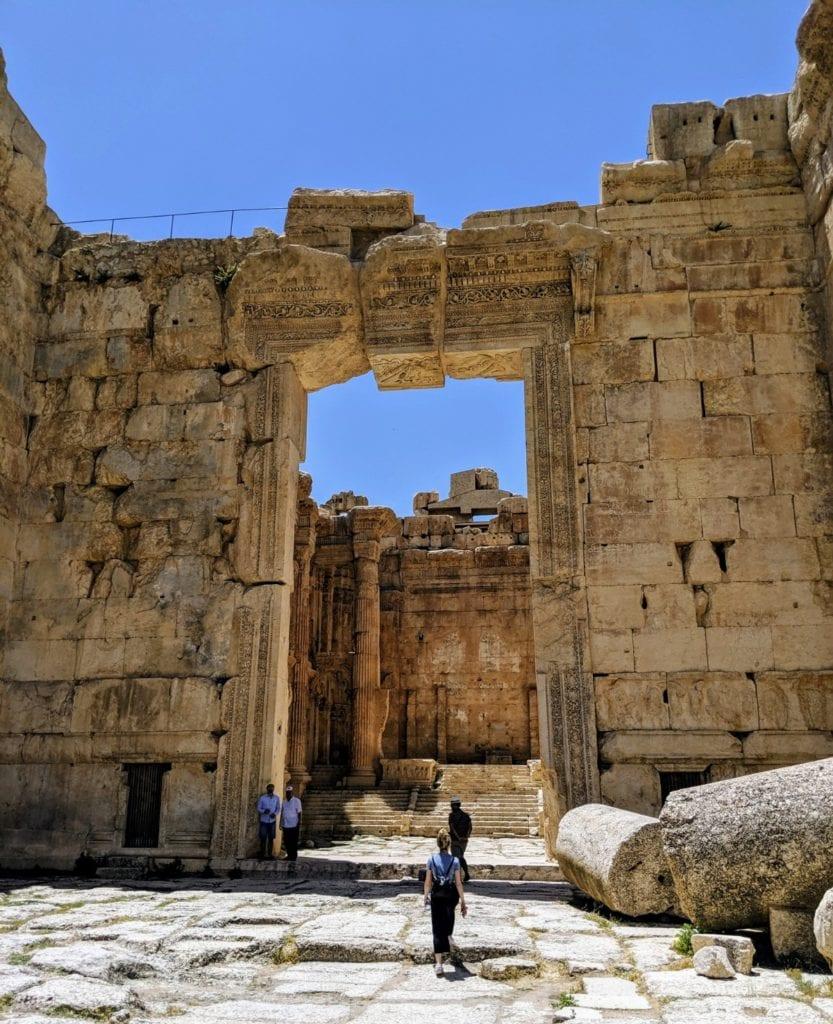Bacchus Temple entrance