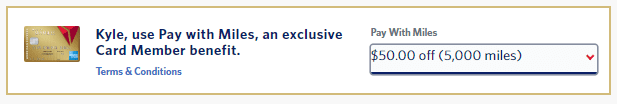 amex airline credits pay with miles