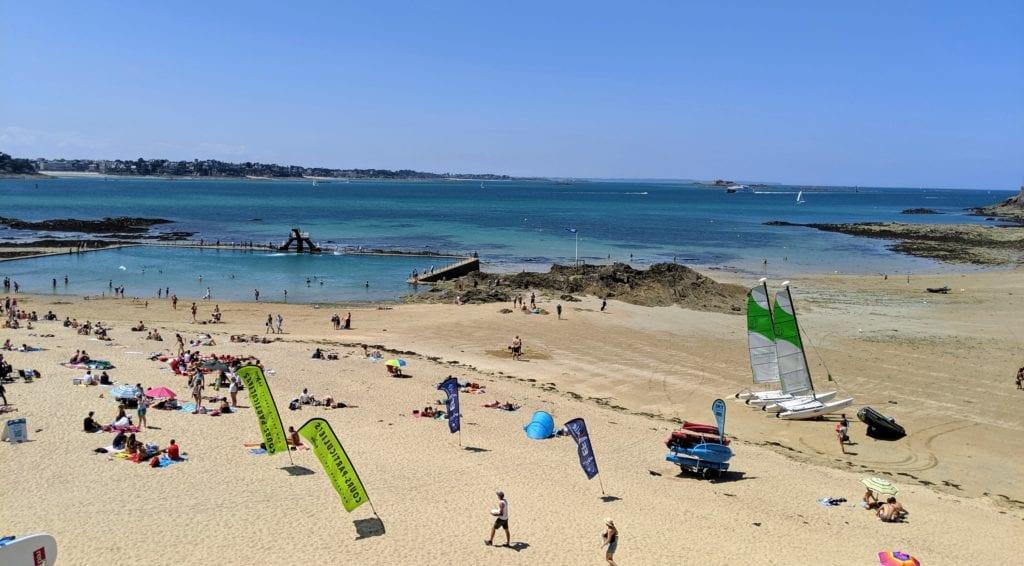 Saint-Malo France beach
