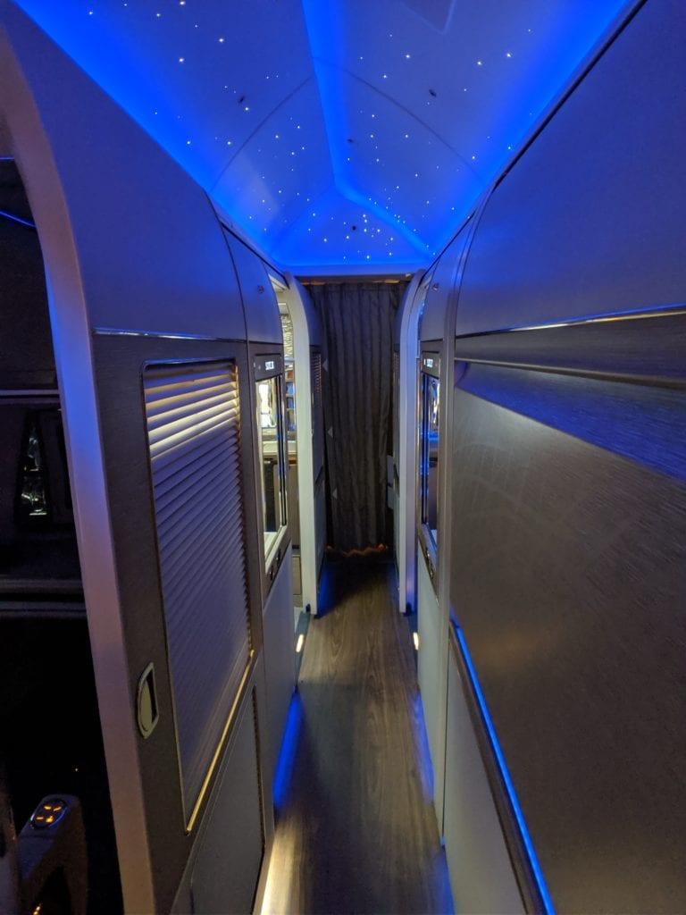 Emirates 777 first class cabin