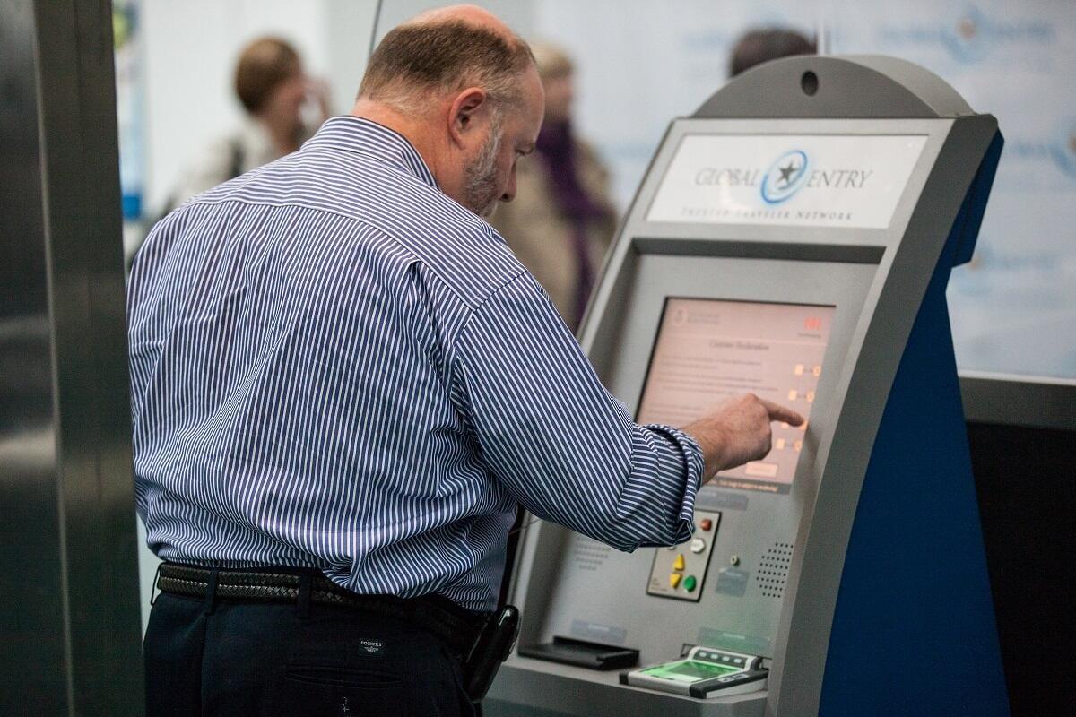Global Entry Kiosk at Newark Liberty International Airport JD
