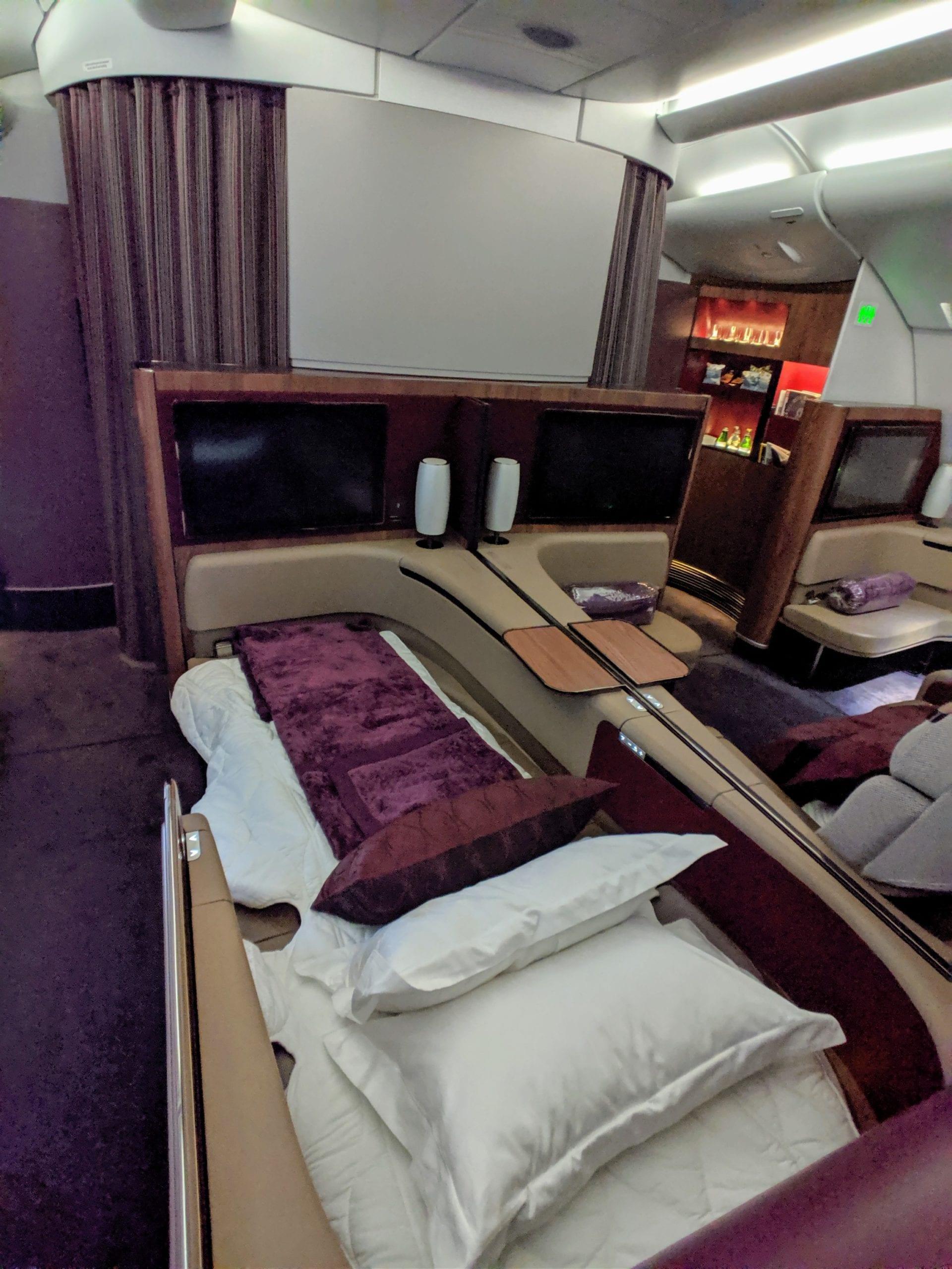 qatar airways first class bed