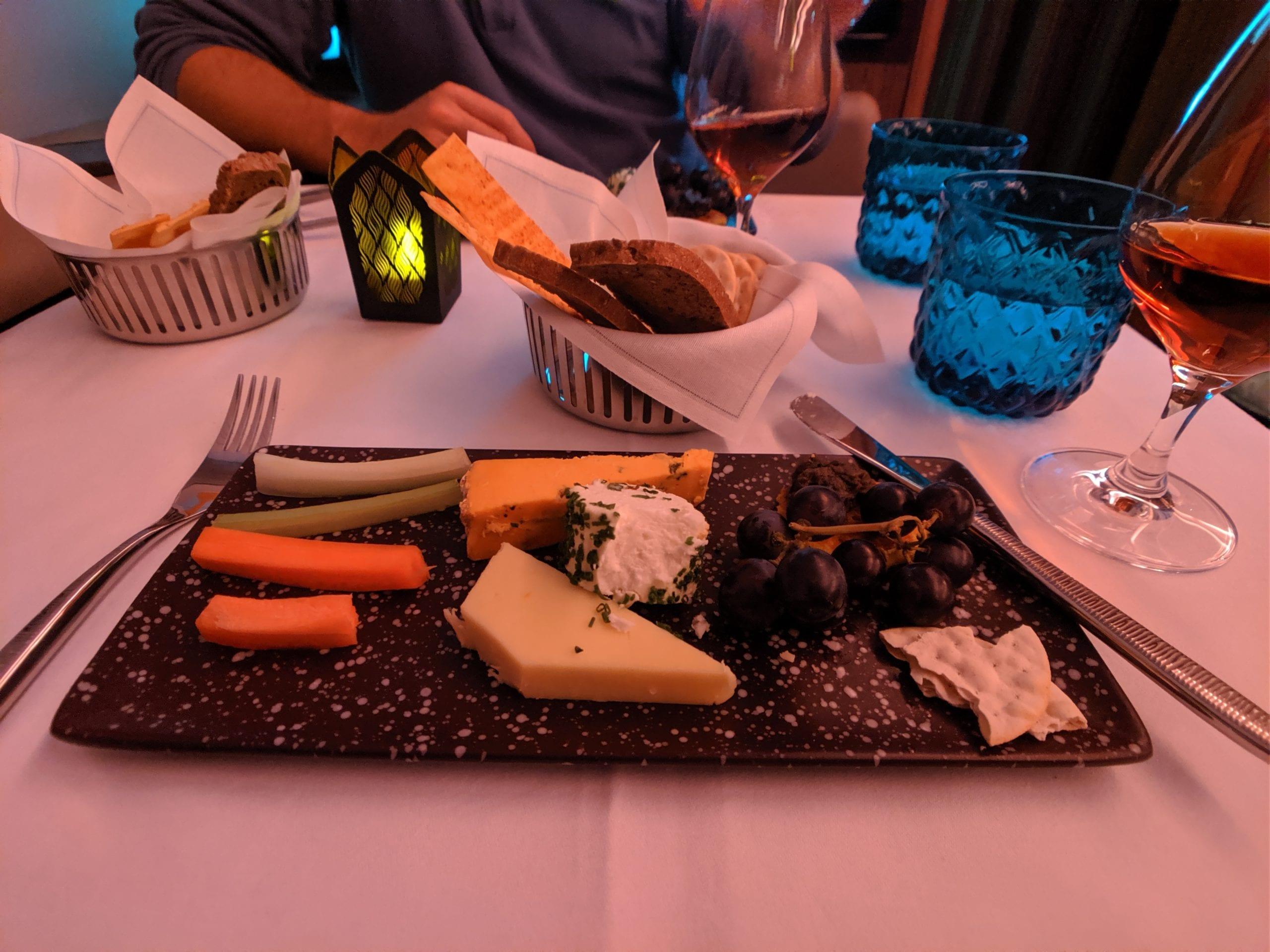 qatar airways first class cheese