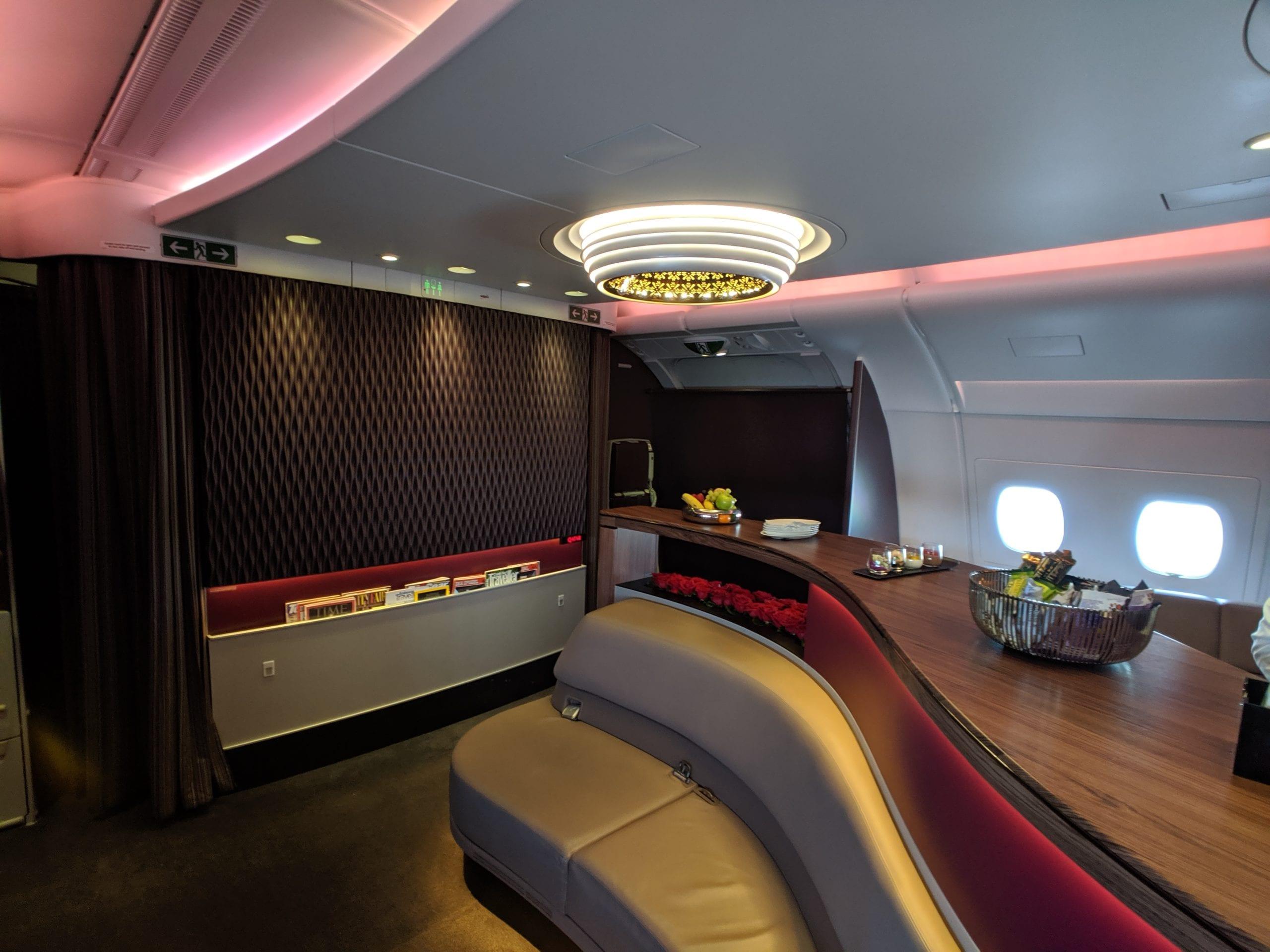 qatar airways bar