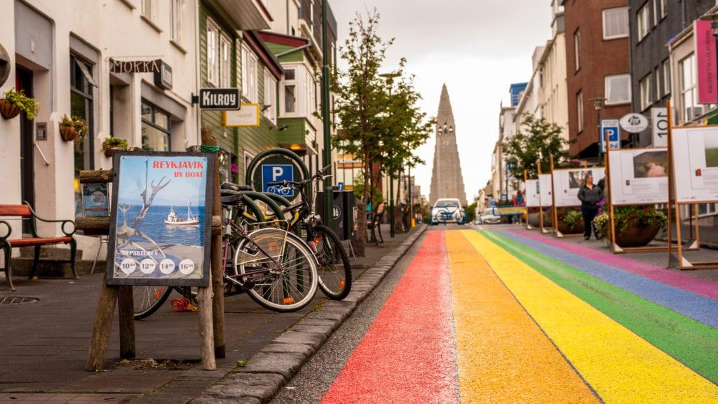 reykjavik rainbow street