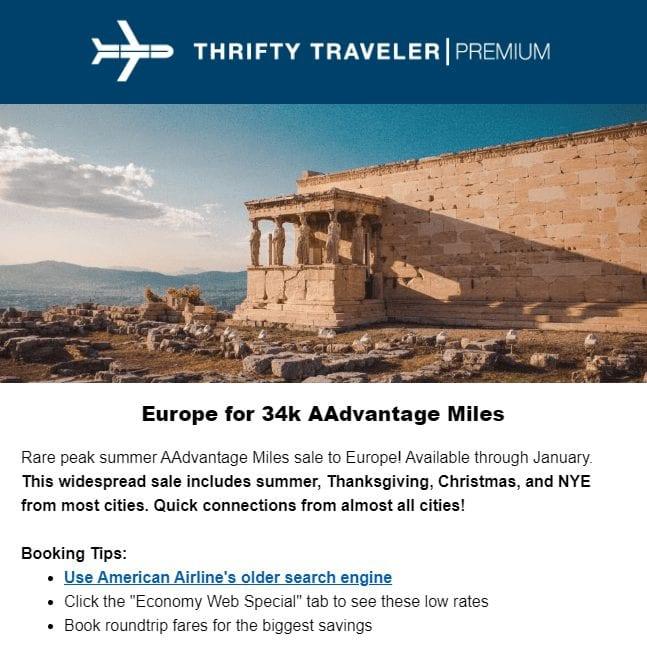 thrifty traveler premium deal