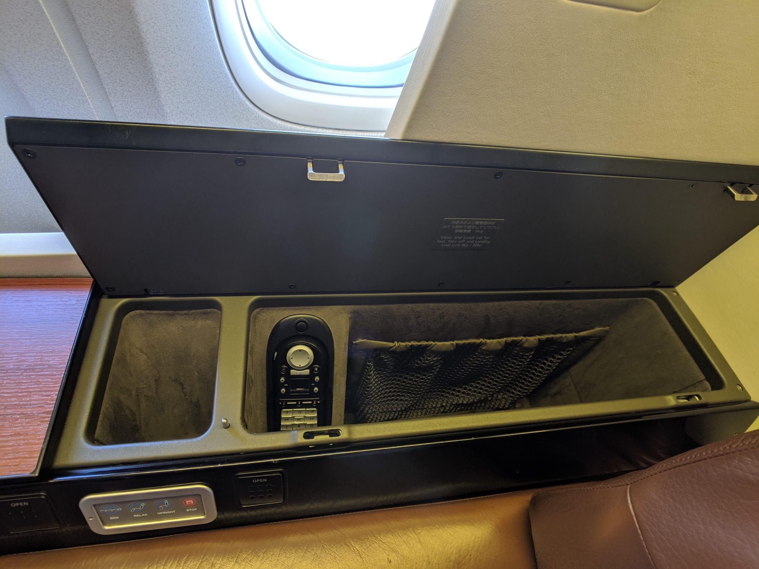 japan airlines storage