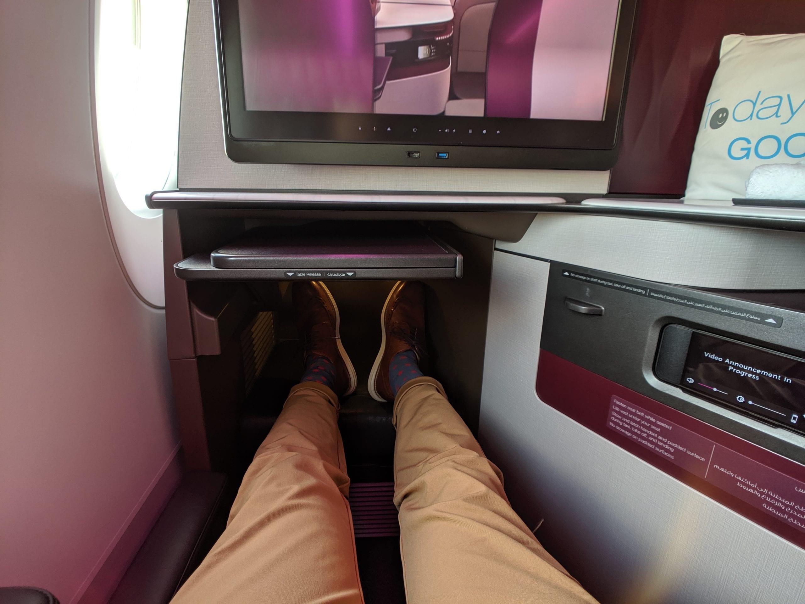 qatar airways qsuite ottoman