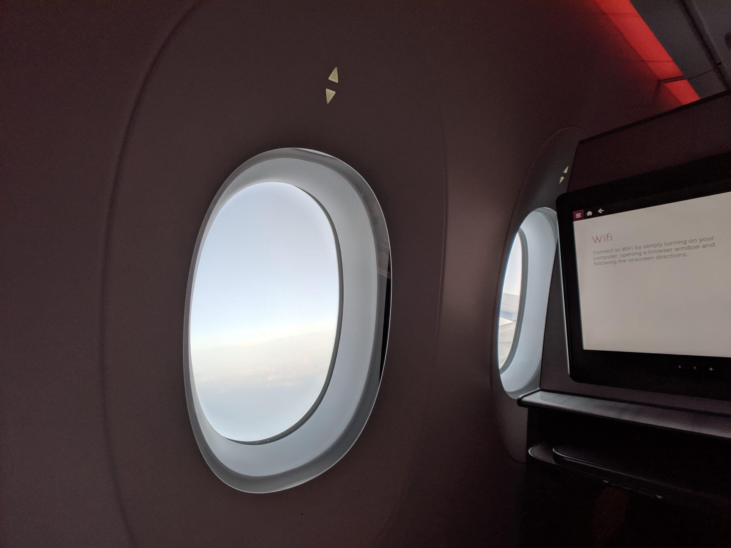 qatar airways qsuite windows