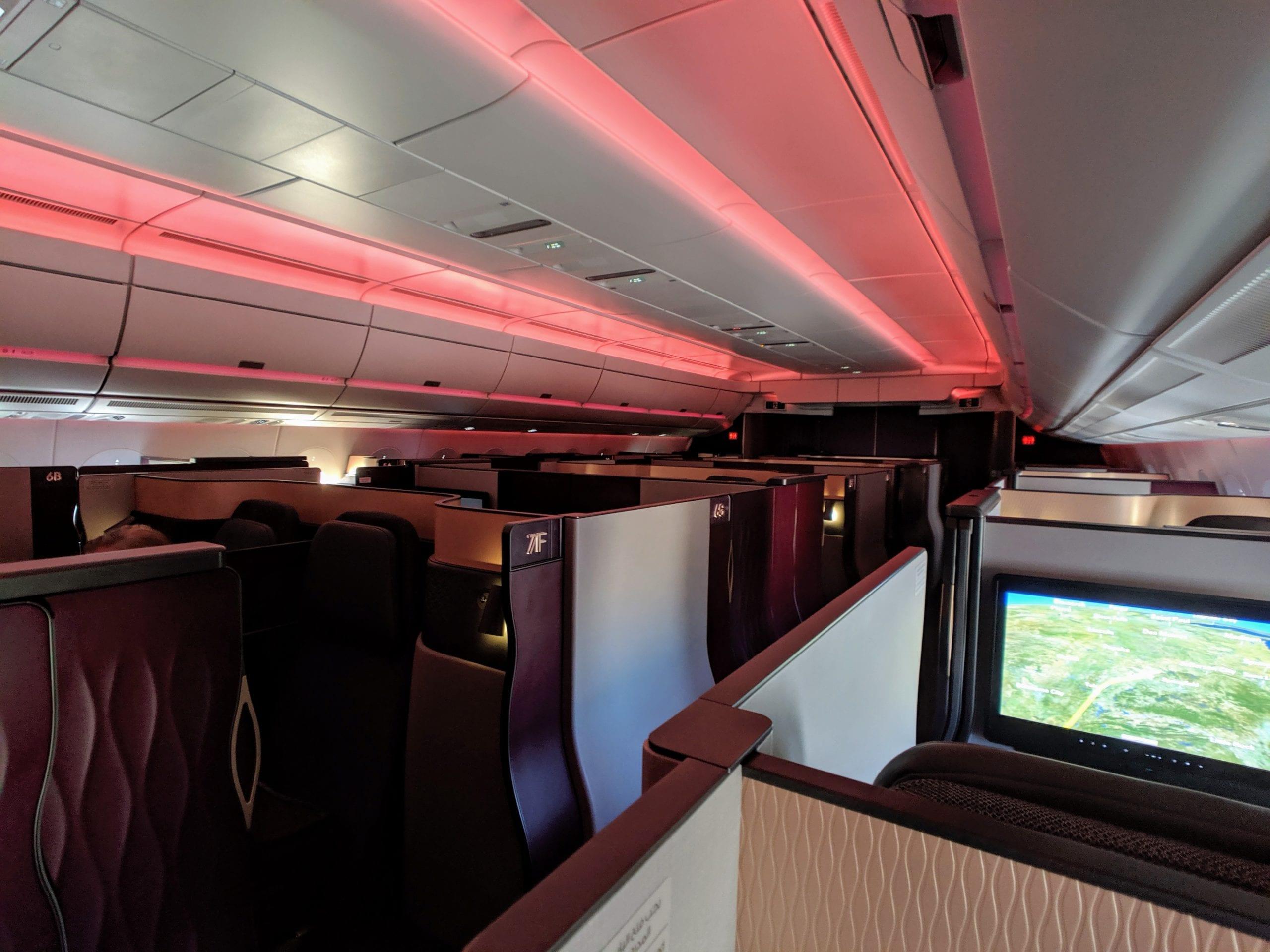 qatar airways qsuite cabin