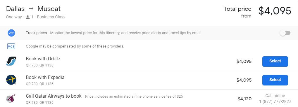 qatar airways qsuite price