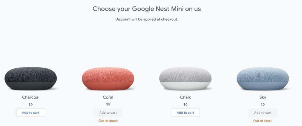 Google Fi Free Nest Mini