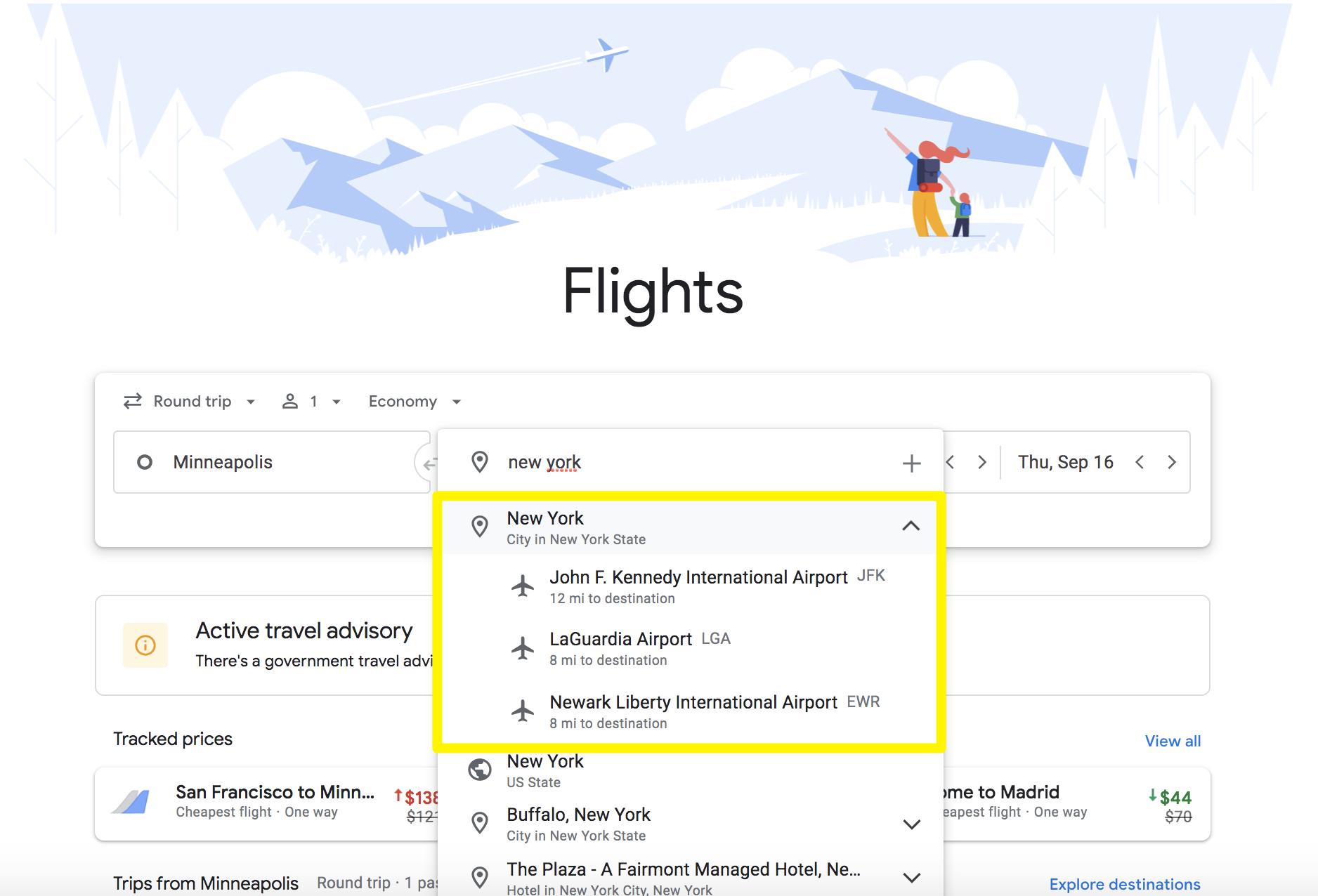 last minute flights google flights