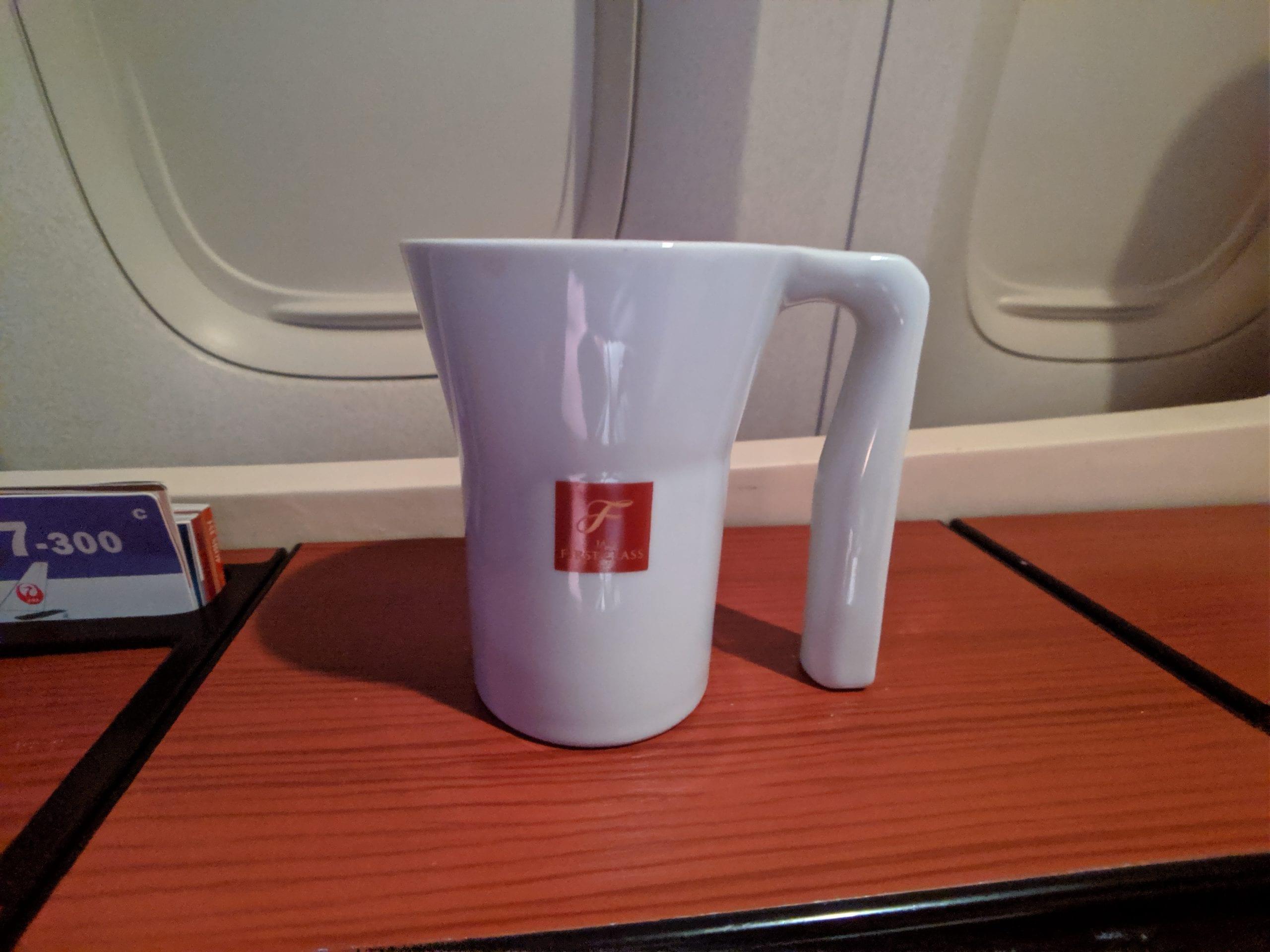 japan airlines coffee mug