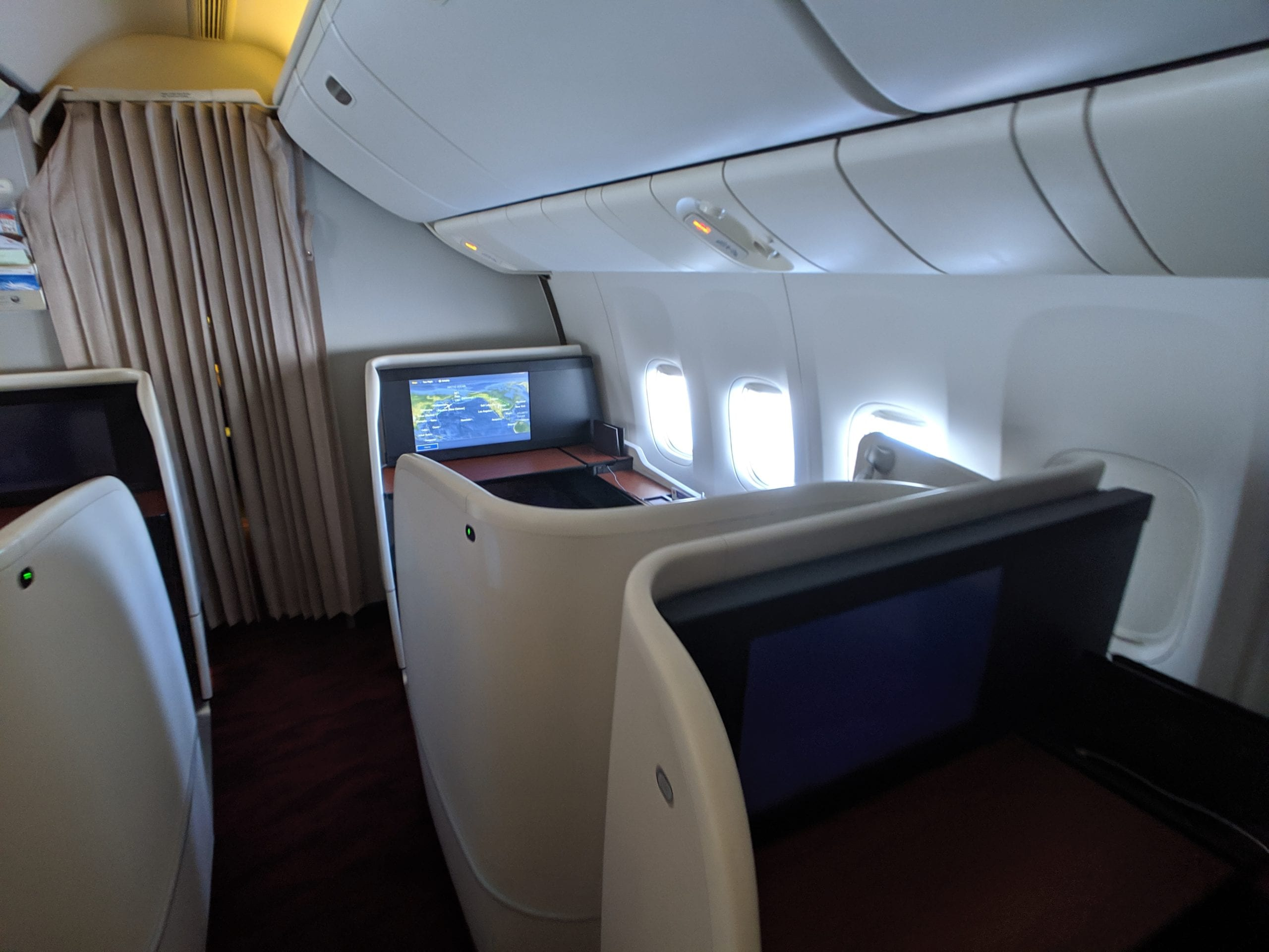japan airlines first class seat shell