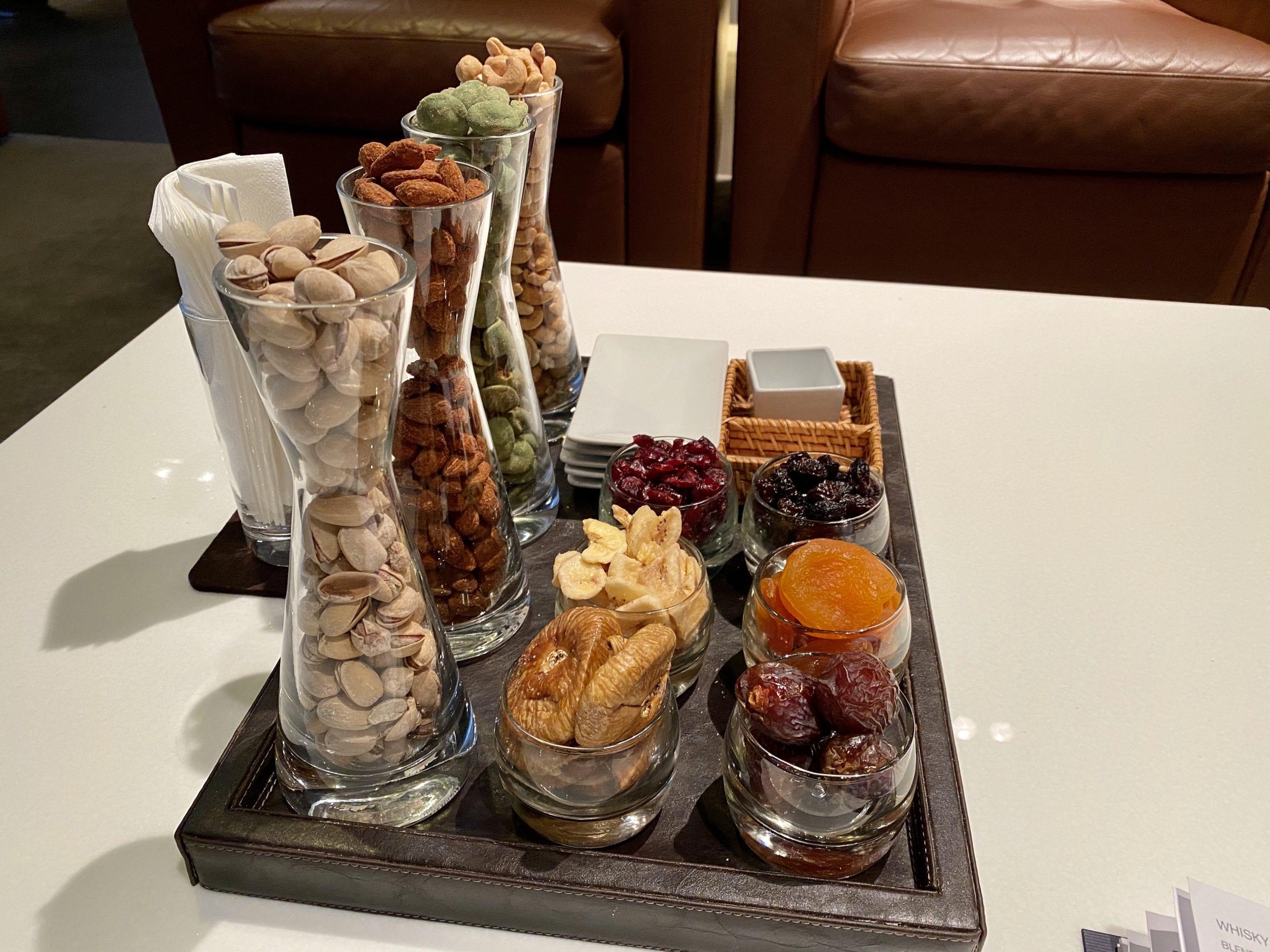 Lufthansa first class terminal snacks
