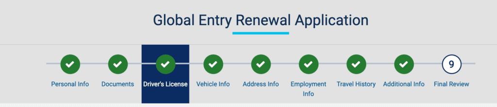 global entry renewal