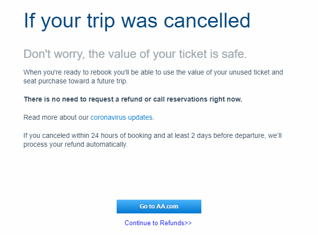 airline refunds