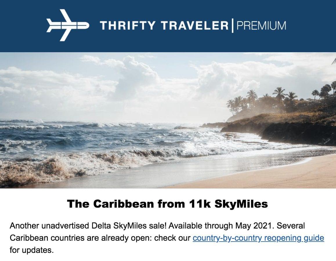 skymiles sale caribbean